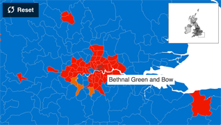 map of bethnal green constituency